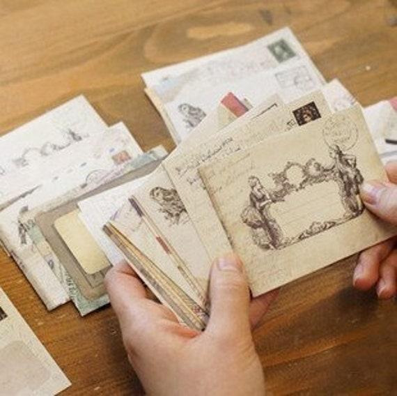 50pcs Vintage Retro Blank Mini Vintage Paper Envelopes Wedding Party Gift G