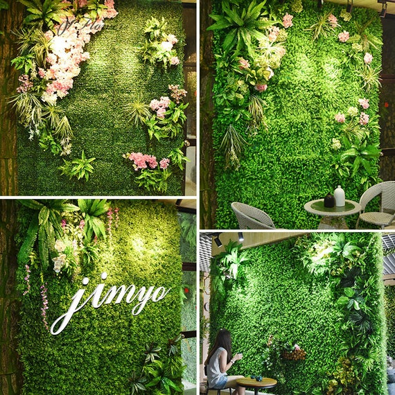 DIY Green Wedding Artificial Grasses Plastic Plant Home Decoration Fake Flower