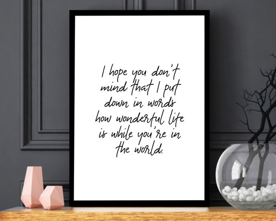 Your Song Elton John Print Your Song Lyrics Poster Your Song Etsy