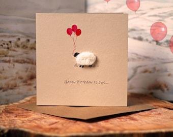Birthday Card | Sheep Card | Personalised Card |