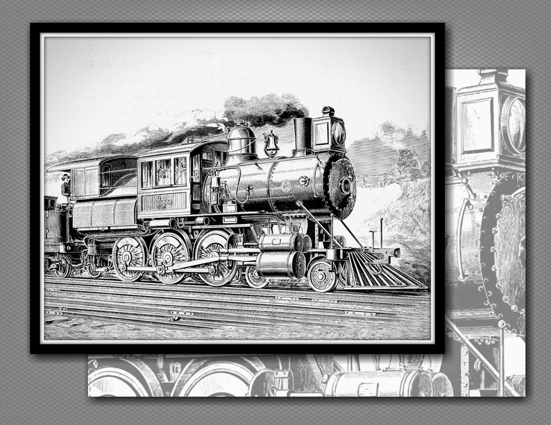 picture regarding Printable Steam Gift Card identify STEAM Educate Card Envelope - Instantaneous Down load Printable Railroad, Railway Locomotive Greeting, Be aware, Reward Card (C065)