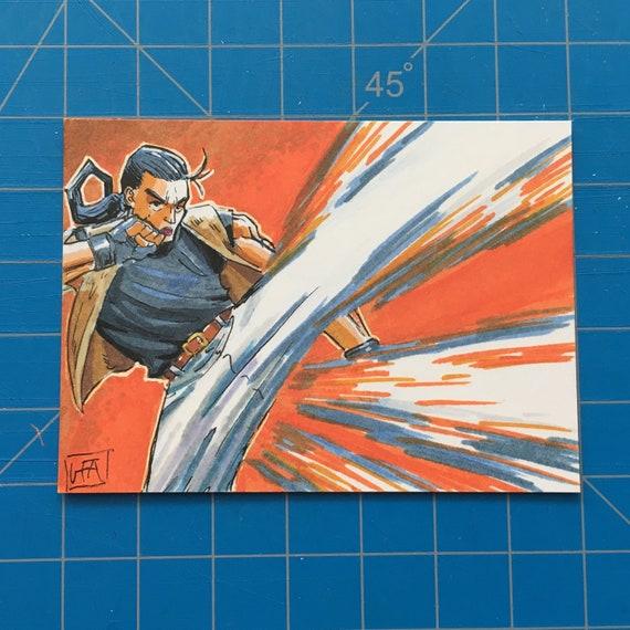Robert Garcia Art Of Fighting Original Sketch Card Inktober Etsy