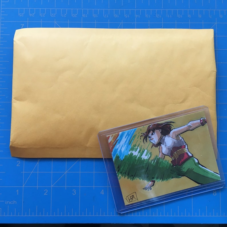 Power Instinct Original Sketch Card Inktober 2018 Fighting Game Retro Gaming Annie Hamilton