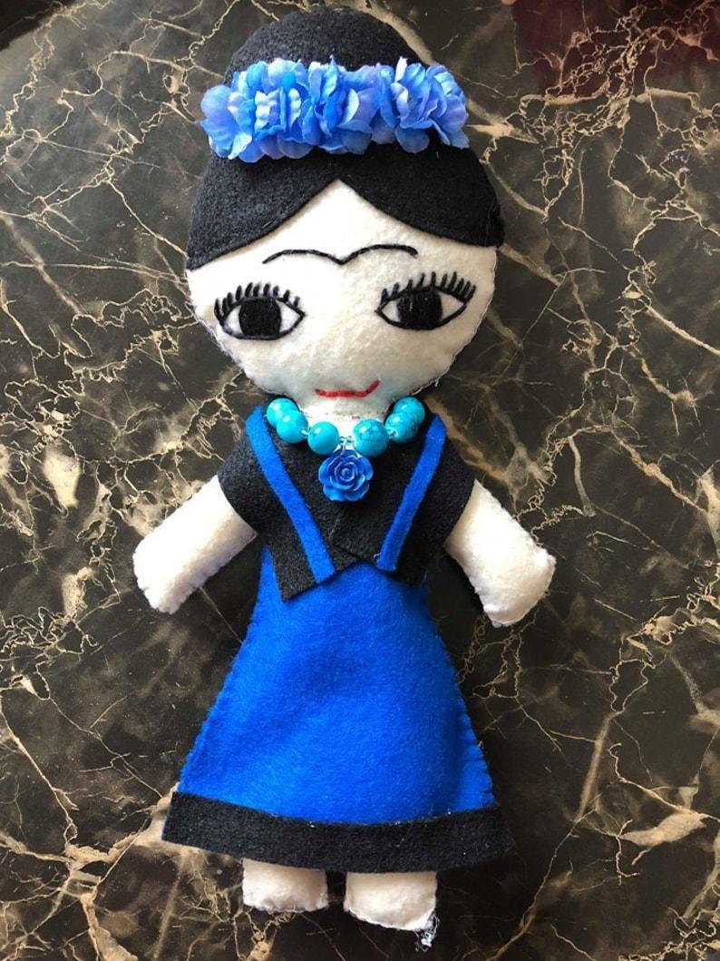 Frida Art Toy Doll  Handmade Frida  Figure Mexican Doll