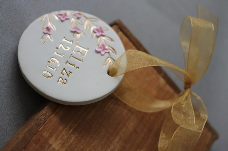 Custom Christmas Ornament with Year Our 1st Christmas Wedding Gift We Do First Christmas Gift Engagement Gift