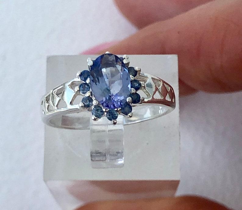 Rare Bicolor Tanzanite and Sapphire Ring