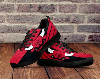 the best attitude 1e3d5 3bb31 Chicago Bulls Shoes, Custom Chicago Bulls Sneakers, Unofficial Bulls  Running Shoes For Men, Women and Kids Sizes