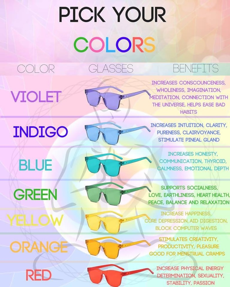 Versful Color Therapy Chakra Healing Glasses