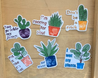 Pot head plant stickermatte sticker with option for waterproofing with gloss finish Support plant parenthood!