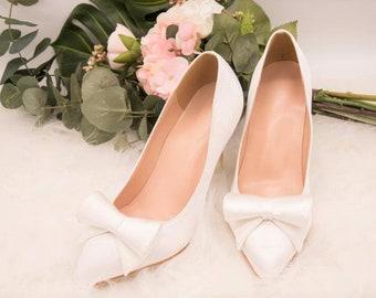 5dae8101f5f7 Satin wedding shoes