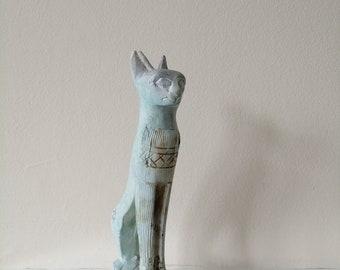 Egyptian Sphinx Inspired Sitting Cat