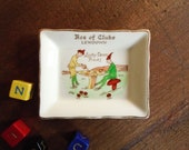 Clearance 50 39 s Little Souvenir Plate 39 Lucky Devon Pixies 39 . Vintage Trinket 39 Ace of Clubs Lewdown 39 . Collectible Mythical Creature Folklore