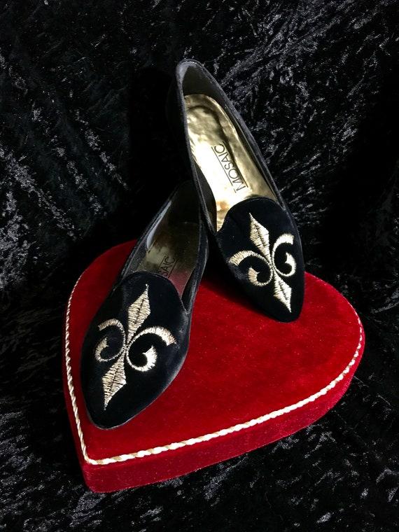 Vintage Velvet Embroidered Shoes