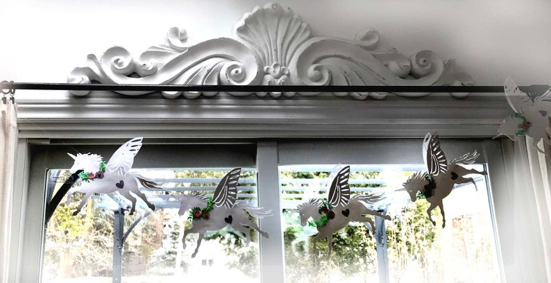 FLYING UNICORNS in 2 sizes Bunting/Garland image 1