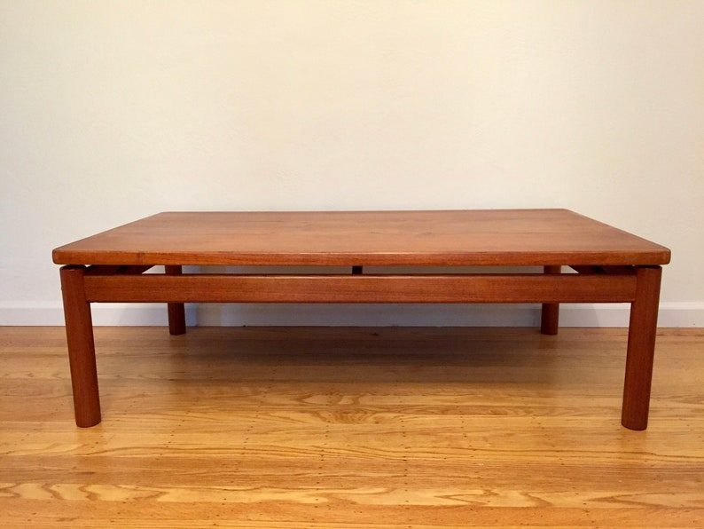 Mid Century Teak Coffee Table By Trioh   Denmark (LOCAL Pick Up U0026 Delivery  ONLY)