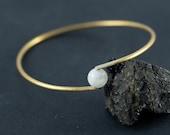 Brass Bracelet, Bangle, Brass Wire, Gemstone Bracelet, Boho Jewelry, Bohemian, Gift For Her, Men, Bracelet Femme, Homme, Birtday Gift