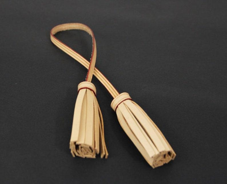double vachetta tassel bag charm purse charm to match your bag neverfull speedy metis Leather tassel
