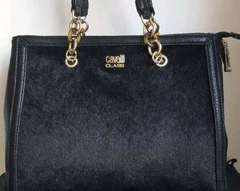 65924255be Roberto Cavalli Class Leopard Print Handbag