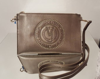 b36ed0c21e40 New Ladies Versace Jeans Gold Leather Clutch Bag