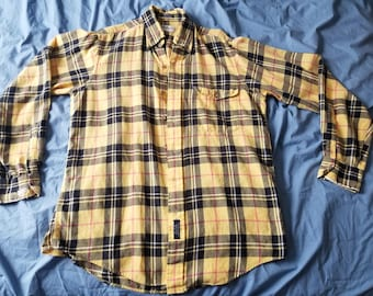 0fe73253813db Vintage 80's Burberry Inspired Button Down Shirt