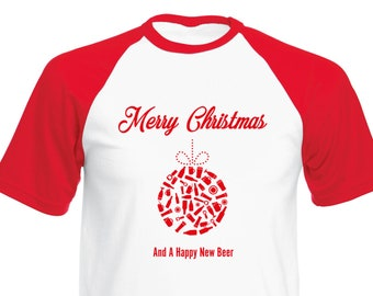 28fc2410 Tee Bees™ Happy New Beer Funny Christmas T-shirt | Novelty | T-shirt Funny  | Funny Shirt | Christmas Gift | Birthday Present