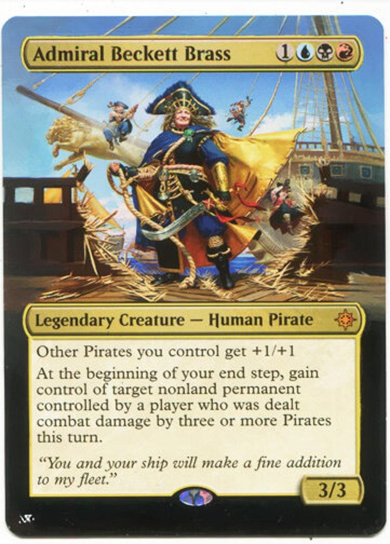 Mtg altered art card Admiral Beckett Brass