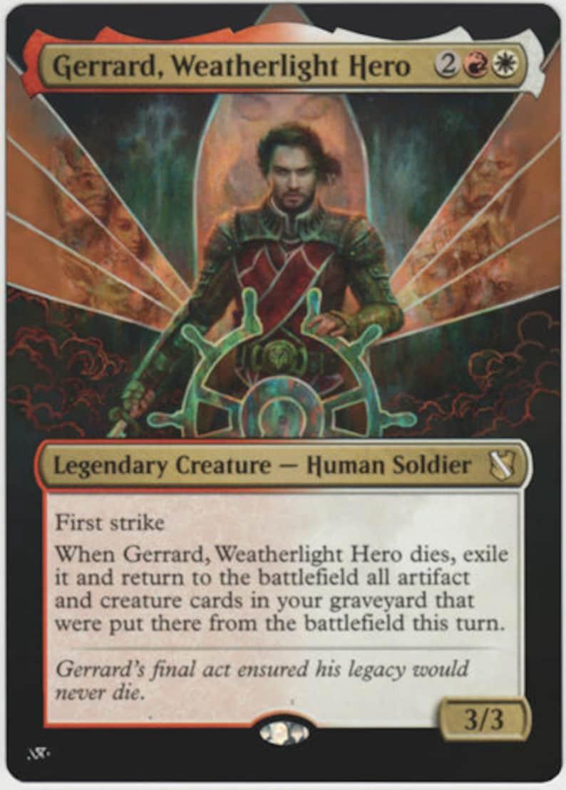 Weatherlight Hero Mtg altered art card Gerrard