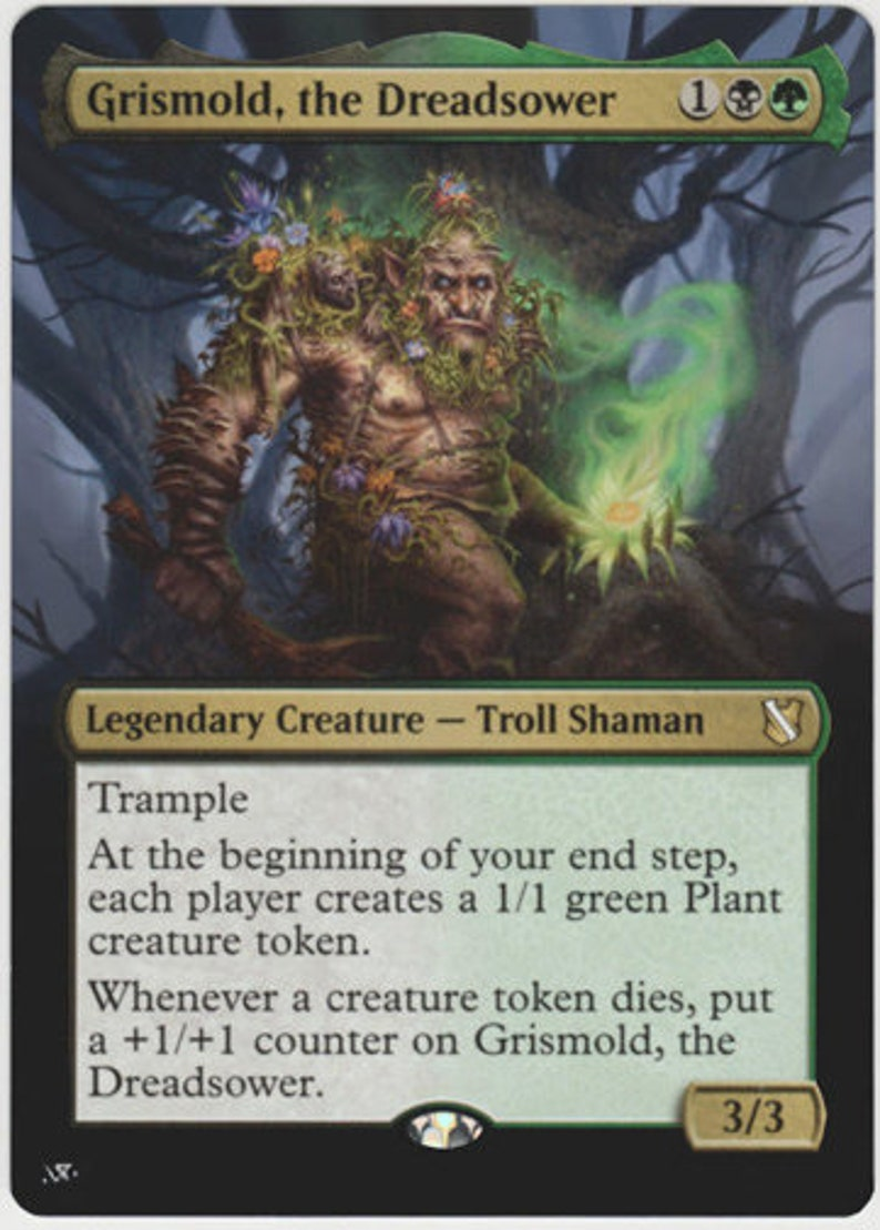 the Dreadsower Mtg altered art card Grismold