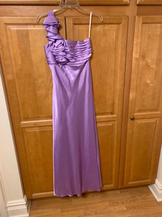 Elegant Lavender Off-The-Shoulder Dress