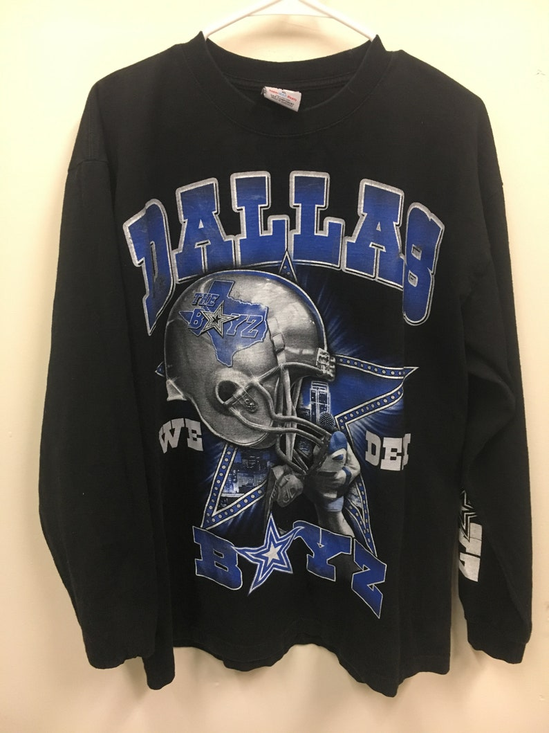 on sale 05548 ef1b2 Vintage Dallas Cowboys We Dem Boys Long Sleeve T Shirt