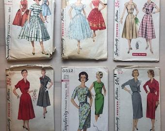 Fifties Dress Pattern, Vintage Sewing Pattern, Sixties Dress, Simplicity Sewing Pattern