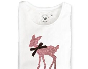 Mädchen T-Shirt Bambi Glitzer f0a6d4966f