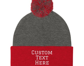 ba2684ec Custom Stocking Cap, Personalized Beanie, Personalized Hat, Create Your  Own, Custom Text, Your Text Here, Custom Beanie, Personalized Hat