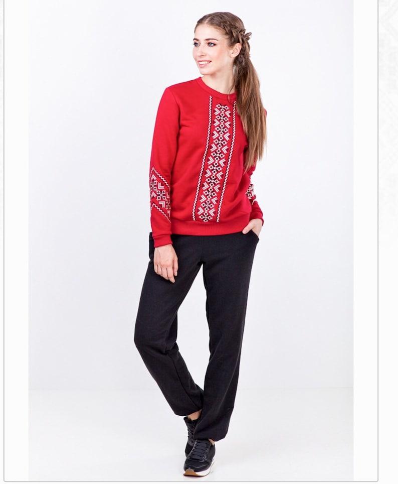 Woman Sweatshirt Embroidered  Ukrainian Style Sweater Girl  For  Her