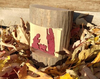 Rustic Wood Nativity Set