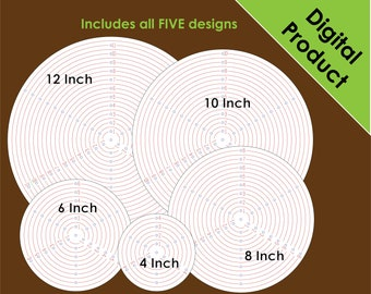 Circle Jig Template for Woodworkers, Lathe Users, or School