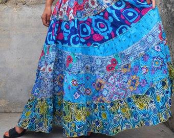 66033599 Indian skirts, ethnic skirts, blue skirts, tier skirts, boho skirts, skirts  for girls, office skirts, summer skirts, holiday skirts