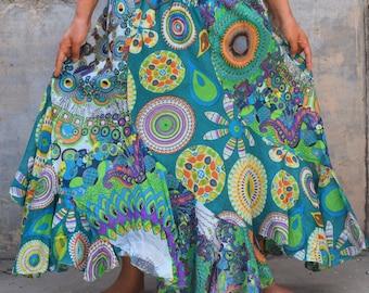e6250fb137 Flower skirt, women skirts, hippie skirt, boho skirts, baggy skirts, gypsy  skirt, prom skirts, Long Skirts, maxi patch skirts, hipster skirt