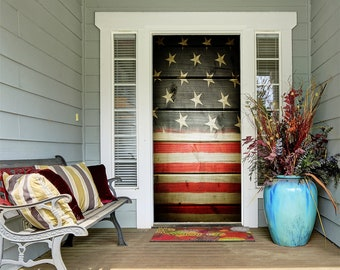 Patriotic 4th of July porch decor is some of my favorite home decor to shop for! Etsy is an especially great spot to find unique decor finds--and that includes patriotic porch decor. This rustic flag door cover is a great way to temporarily give your front door a makeover.