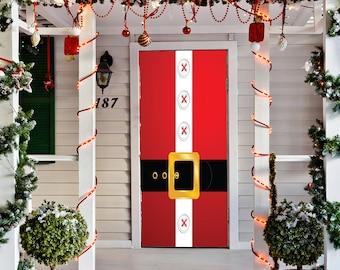 Christmas Door Decorations.Christmas Door Cover Etsy