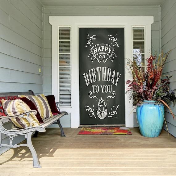 Vintage Happy Birthday Door Decoration Door Decor Door Etsy