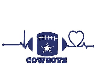 Dallas Cowboys Heartbeat SVG 677c9a740