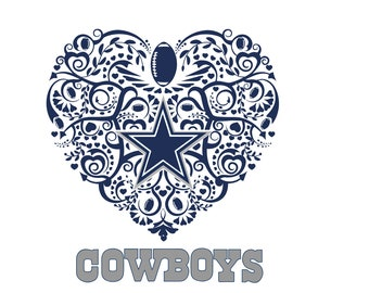 Dallas Cowboys Heart SVG 96ec0ef18