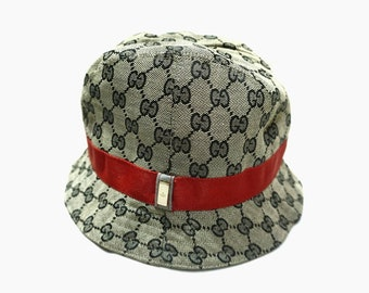 aa73fc64361 Vintage Gucci Monogram Bucket hat good condition