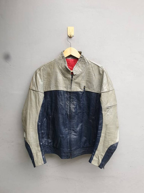 Vintage BMW Leather motorcycle jacket. Caferacer r