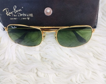 bf682eb9e2 Vintage ray ban b l caravan driving sunglasses. With case.