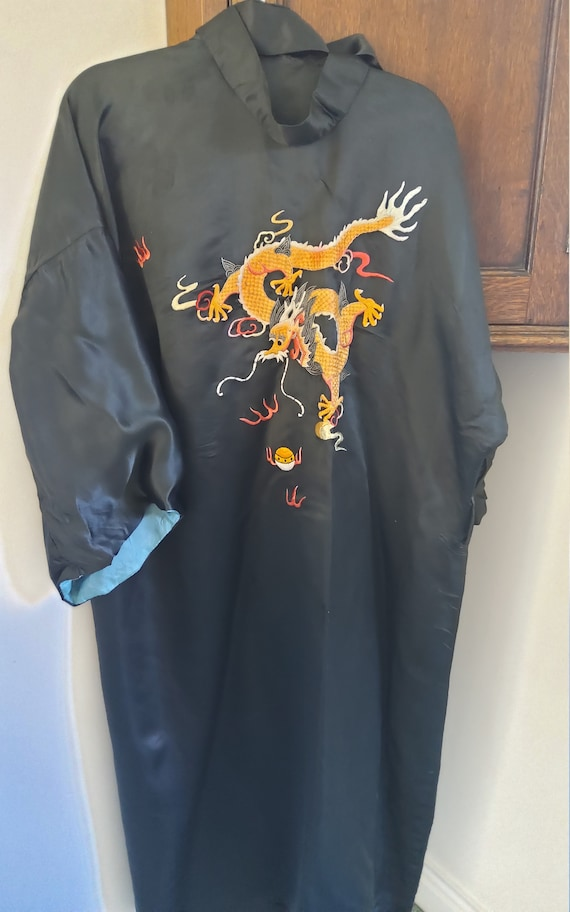 Vintage 1980s Chinese pure silk robe
