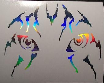 Tiger Eyes Tribal Car Decal Tuning Wall Window Door Vinyl STICKER