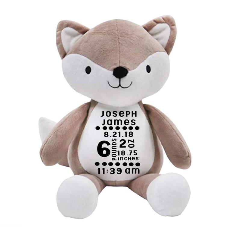 Birth Stat plush fox