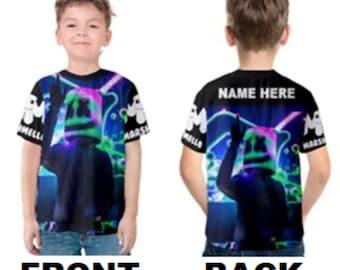 033c096e8 Marshmello DJ Unisex Kid's Or Adult's Custom T-shirt - Kids 2, 3, 4, 5, 6,  7, 8, 10, 12, 14, 16, 18 - Adult XS,S,M,L,XL,2XL,3XL,4XL,5XL